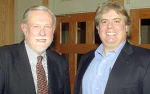 Chuck Geschke and Dan Hanson at JCU